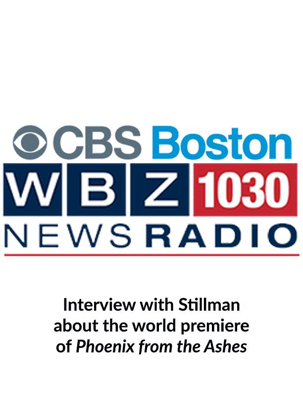 CBS Boston Radio interviews Stillman about